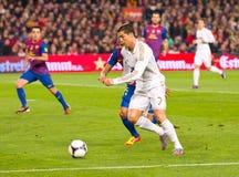Cristiano Ronaldo in action Royalty Free Stock Photos