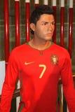 Cristiano Ronaldo bij Mevrouw Tussaud's Stock Fotografie