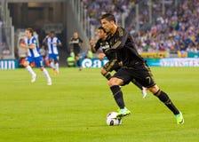 Cristiano Ronaldo dans l'action Photos libres de droits