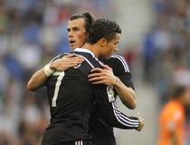 Cristiano Ronaldo e Gareth Bale del Real Madrid fotografia stock