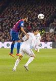 Cristiano Ronaldo en Dani Alves Royalty-vrije Stock Foto's