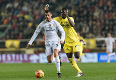 Cristiano Ronaldo and Eric Bailly. Vila-real, Spain. 13 december of 2015.Cristiano Ronaldo and Eric Baillly in action during the match between Villarreal and Stock Images