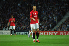 Cristiano Ronaldo (FIFA 2009 World Best Player). F.C.Porto (POR) - Manchester United (ENG) play to qualify to qualify to the 2009 UEFA Champions League Semi Royalty Free Stock Image