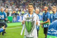 Cristiano Ronaldo futbol obraz stock