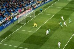 Cristiano Ronaldo - istny Madrid vs ludogorets 4-0 Fotografia Royalty Free