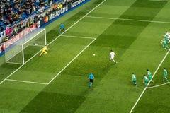 Cristiano Ronaldo kara - istny Madrid vs ludogorets 4-0 Obraz Royalty Free