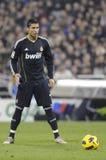 Cristiano Ronaldo klaar te ontspruiten Stock Foto