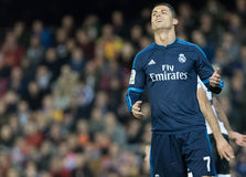 Cristiano Ronaldo. Laments during the match between Valencia and Real Madrid Stock Photos