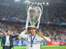 Cristiano Ronaldo liga mistrzowie zdjęcie stock