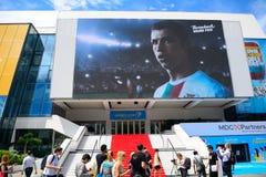 Cristiano Ronaldo in Palais DE Festivals, Cannes, Frankrijk royalty-vrije stock afbeeldingen