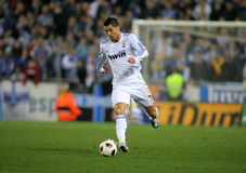 Cristiano Ronaldo of Real Madrid. During a spanish league match between Espanyol and Real Madrid at the Estadi Cornella on February 13, 2011 in Barcelona, Spain Stock Photo