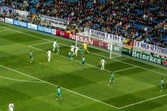 Cristiano Ronaldo - Real Madrid contro i ludogorets 4-0 Fotografia Stock Libera da Diritti