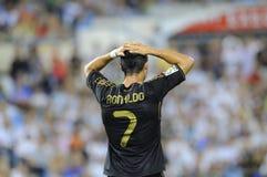 Cristiano Ronaldo's missed penalty kick. Cristiano Ronaldo missed penalty kick with Real Madrid Stock Photos