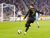 Cristiano Ronaldo shooting royalty free stock photography