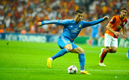 Cristiano Ronaldo stopping the ball Stock Images