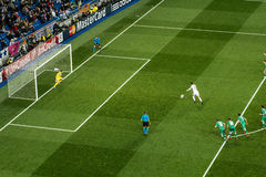 Cristiano ronaldo straff - Real Madrid vs ludogorets 4-0 Arkivbild