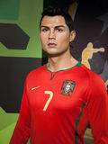 Cristiano Ronaldo wax statue. At the famous Madame Tussaud's museum in Bangkok, Thailand Royalty Free Stock Photography