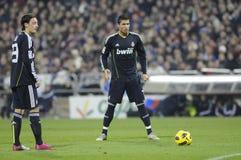 Cristiano Ronaldo y Mesut Ozil Imagen de archivo libre de regalías