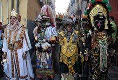 cristianos de fiesta moros西班牙villajoyosa y 免版税库存照片