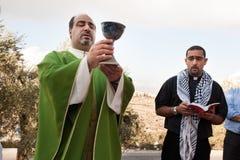 Cristianos palestinos Imágenes de archivo libres de regalías