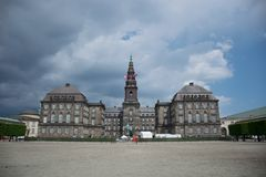 Cristiansborg宫殿哥本哈根丹麦 免版税库存照片