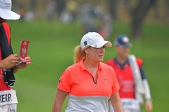 Cristie Kerr in Honda LPGA Thailand 2018. CHONBURI - FEBRUARY 24 : Cristie Kerr of USA in Honda LPGA Thailand 2018 at Siam Country Club, Old Course on February Stock Photography