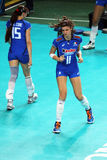 Cristina chirichella. During the warm up of the world cuo volley match italy vs azerbaijan played at bari. 1/10/2014 royalty free stock images