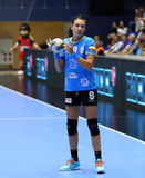 CRISTINA NEAGU. In action during her first game for CSM Bucharest, in Romania`s women handball Supercup against SCM Craiova played at Polivalenta Hall, in Stock Image