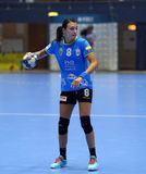 CRISTINA NEAGU. In action during her first game for CSM Bucharest, in Romania`s women handball Supercup against SCM Craiova played at Polivalenta Hall, in Royalty Free Stock Images