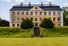 Cristinehof castle on the eastcoast of skane. Cristinehof castle is a castle in kivik Municipality, Scania, in southern Sweden Royalty Free Stock Photo
