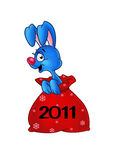 cristmas兔子 库存图片
