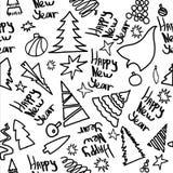 Cristmas 2019 счастливого Нового Года веселые иллюстрация штока
