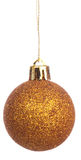 Cristmas. Isolatedyellow gold ball (cristams toy at cristmas tree Royalty Free Stock Photo