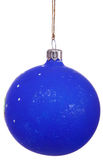 Cristmas. Isolated blue ball (cristams toy at cristmas tree royalty free stock photos