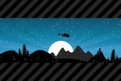 背景cristmas圣诞老人 免版税库存照片