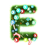 Cristmas alphabet letter. 3d illustration Royalty Free Stock Images