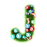 Cristmas alphabet letter Royalty Free Stock Images