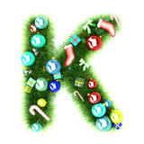Cristmas alphabet letter. 3d illustration Stock Photography