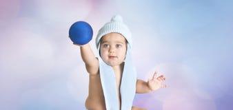 Cristmas baby blue Stock Image