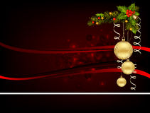Cristmas  background. Elegant Merry Cristmas and Happy New Year background with baubles Royalty Free Stock Images