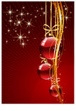 Cristmas  background. Elegant Merry Cristmas and Happy New Year background with baubles Royalty Free Stock Photo