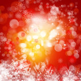 Cristmas background with lights Stock Images