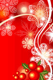 Cristmas background red. Vector by  illustration Royalty Free Stock Photography
