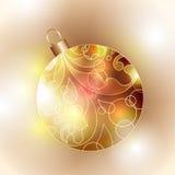 Cristmas Ball. Illustration of abctract Christmas glass ball Stock Image