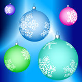 Cristmas balls decoration. Illustration of the Christmas balls decoration Royalty Free Stock Image