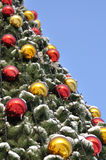Cristmas balls and new year's fir tree Stock Photography