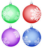 Cristmas balls set Stock Images