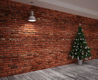Cristmas Banner on wall Royalty Free Stock Image