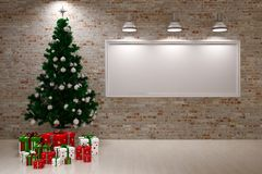Cristmas Banner on wall Royalty Free Stock Photography