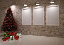 Cristmas Banners on wall Royalty Free Stock Images